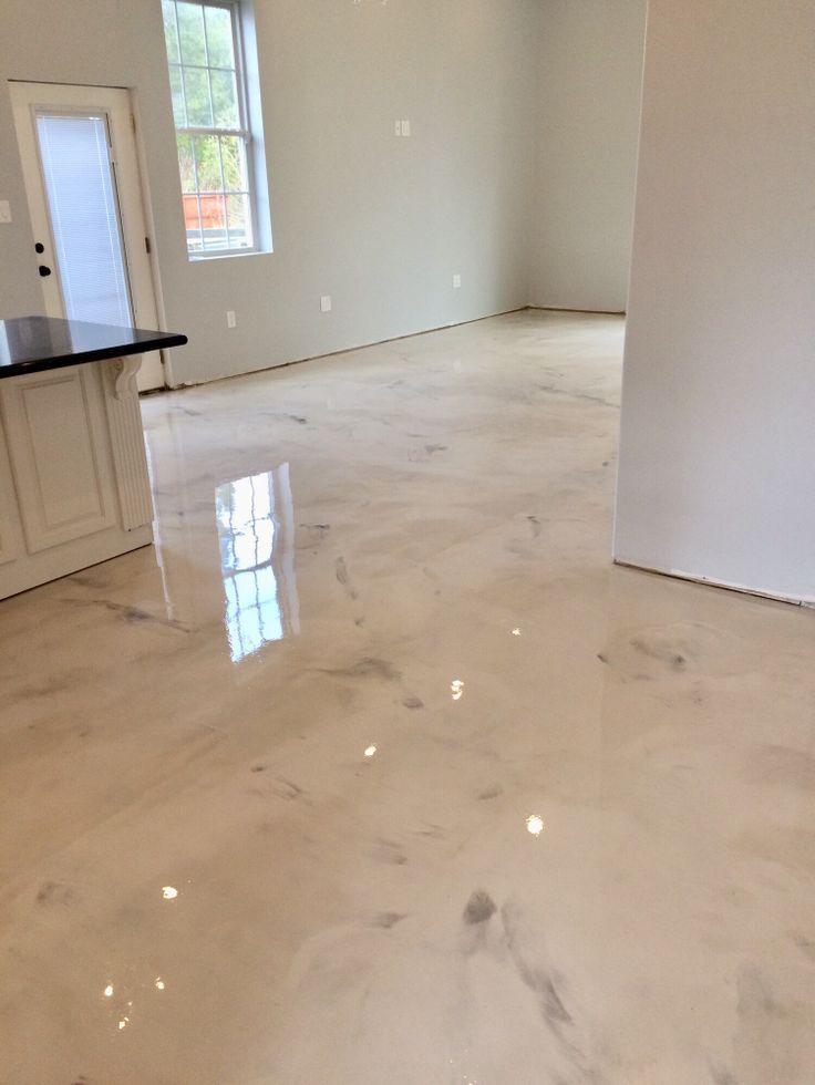 Pearl And Titanium Epoxy Concrete Stained Floors Diy Flooring Epoxy Floor
