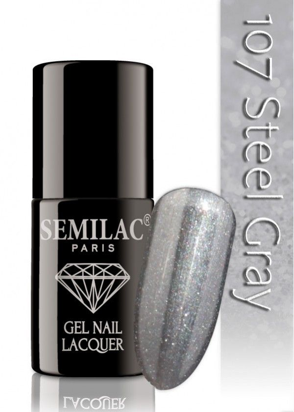 Semilac 107 Steel Gray UV&LED Nagellack
