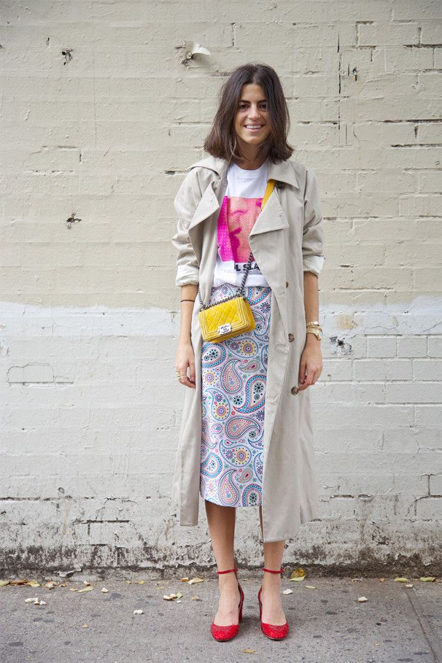 Culled from Paris: Try a Long Skirt & Trench | Man Repeller