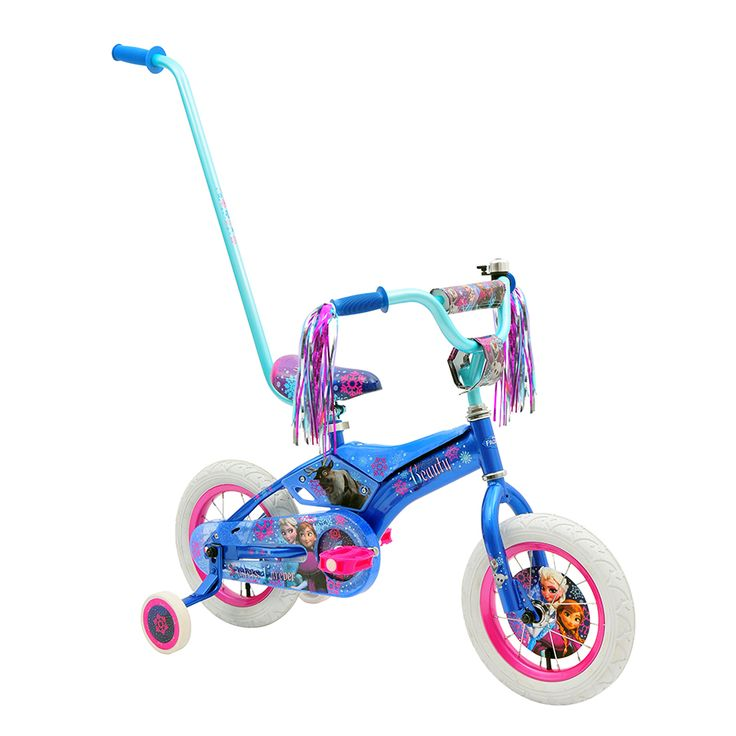 30cm Disney Frozen Padded Bike With Parent Handle Toys R