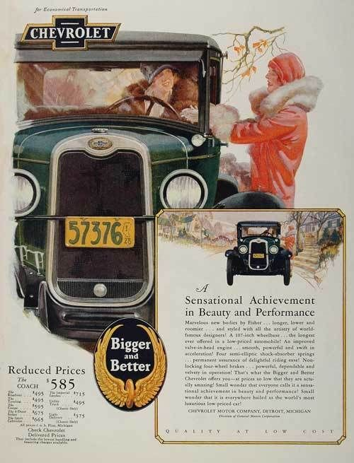 1920S Advertisements | The influence of the old English horse-drawn coach livery,