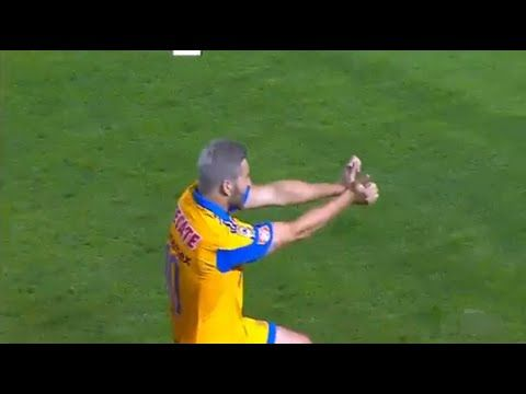 Andre Pierre Gignac scored another great goal for Tigres pulls out Super Saiyan celebration (Video)