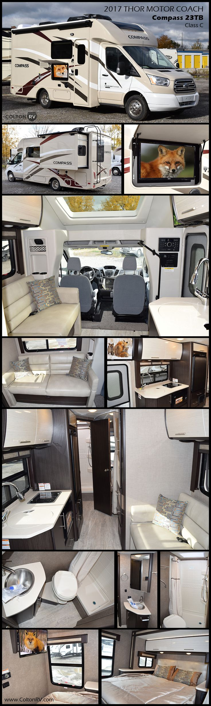 Stylish and comfortable you will love the compass by thor motor coach class c motorhome the second you walk through the door