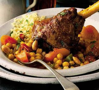 Lamb shanks with chickpeas & Moroccan spices