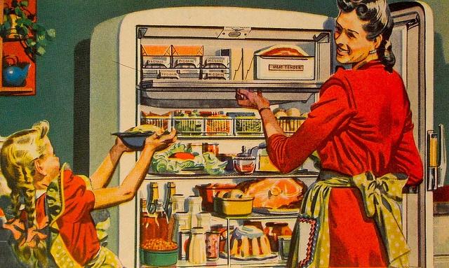 Vintage Advertisement 1940s Refrigerator by Christian Montone, via Flickr