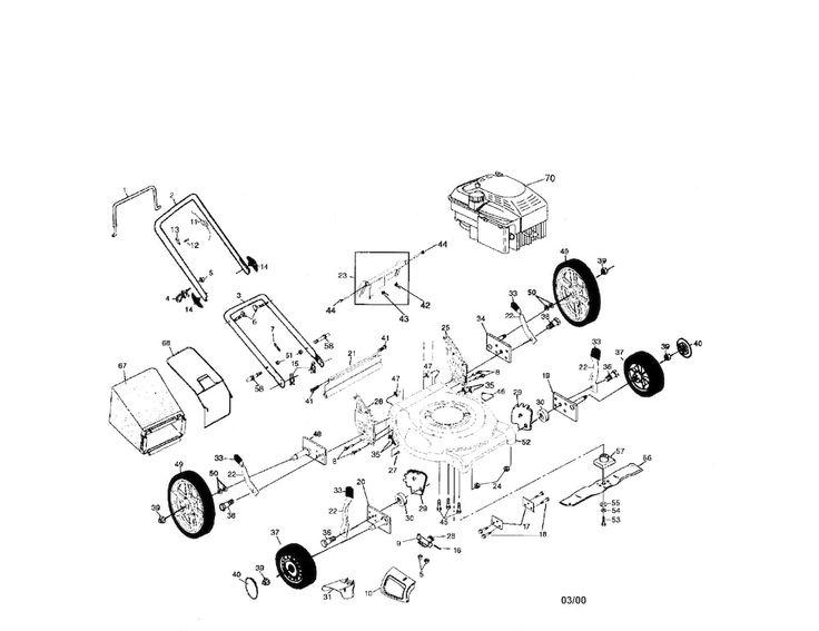 "CRAFTSMAN CRAFTSMAN 6HP 21"" MULTI-CUT ROTARY LAWN MOWER Parts | Model 917388391 | Sears PartsDirect"