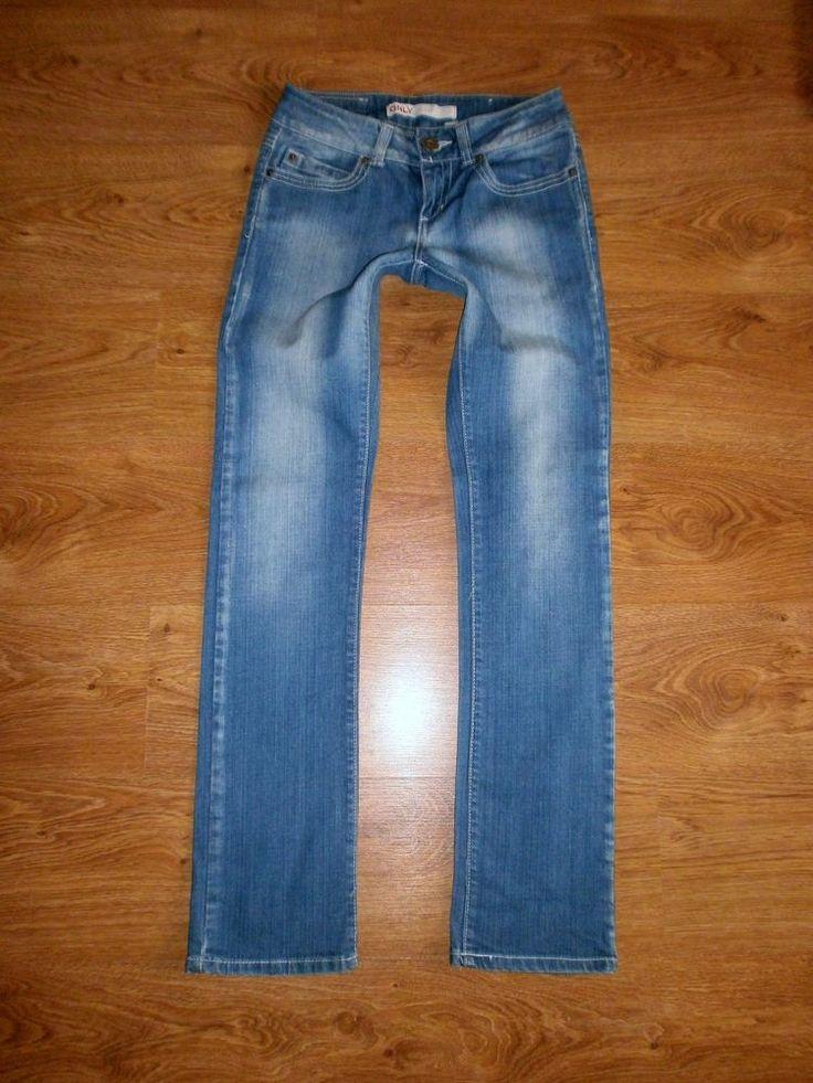 ONLY Mod. PRINCE SLIM Damen Jeans Gr. 36 W27 L34 Low Hüft Röhrenjeans Jeanshose