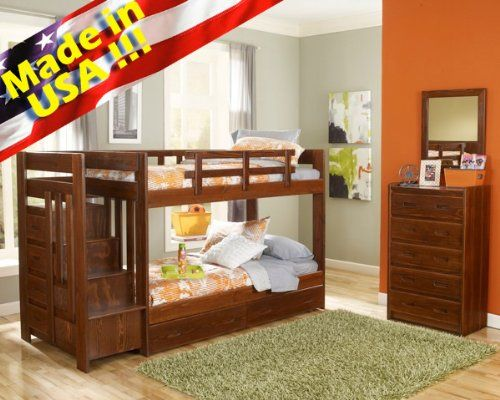 Roundhill Furniture Solid Wood Reversible Stair Way Bunk Bed with Drawer and Under Bed Chest Twin/Twin Stina Dark Finish Review https://woodbunkbedsforkids.info/roundhill-furniture-solid-wood-reversible-stair-way-bunk-bed-with-drawer-and-under-bed-chest-twintwin-stina-dark-finish-review/