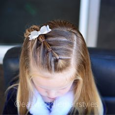 """901 Likes, 27 Comments - Tiffany ❤️ Hair For Toddlers (@easytoddlerhairstyles) on Instagram: """"Here's the front of yesterday's style. Diagonal connected ponies with fun wrap around parting. It…"""""""