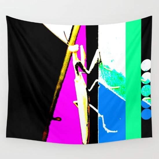 #LoveTwitter #society6 #society6home #society6deco #kids #kidspainting #yoga #wallart #interiordesign #popart #hope https://society6.com/product/praying-mantis-jnb_tapestry#s6-4196460p42a55v412