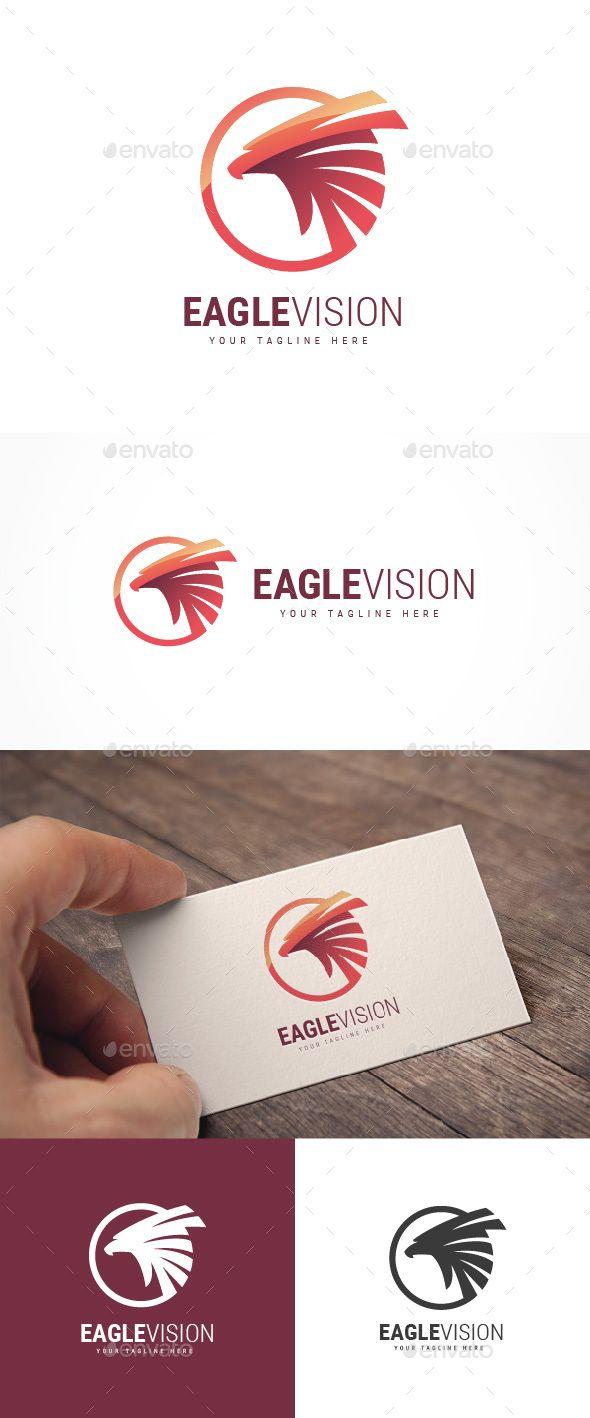 Eagle Vision #Logo - Animals Logo Templates Download here: https://graphicriver.net/item/eagle-vision-logo/20036144?ref=alena994