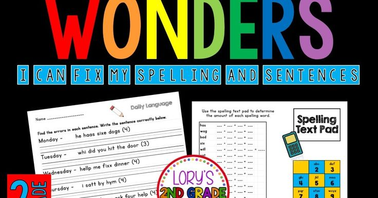Help your kids practice their spelling words while working on daily oral language. Each week students get to correct a sentenc...