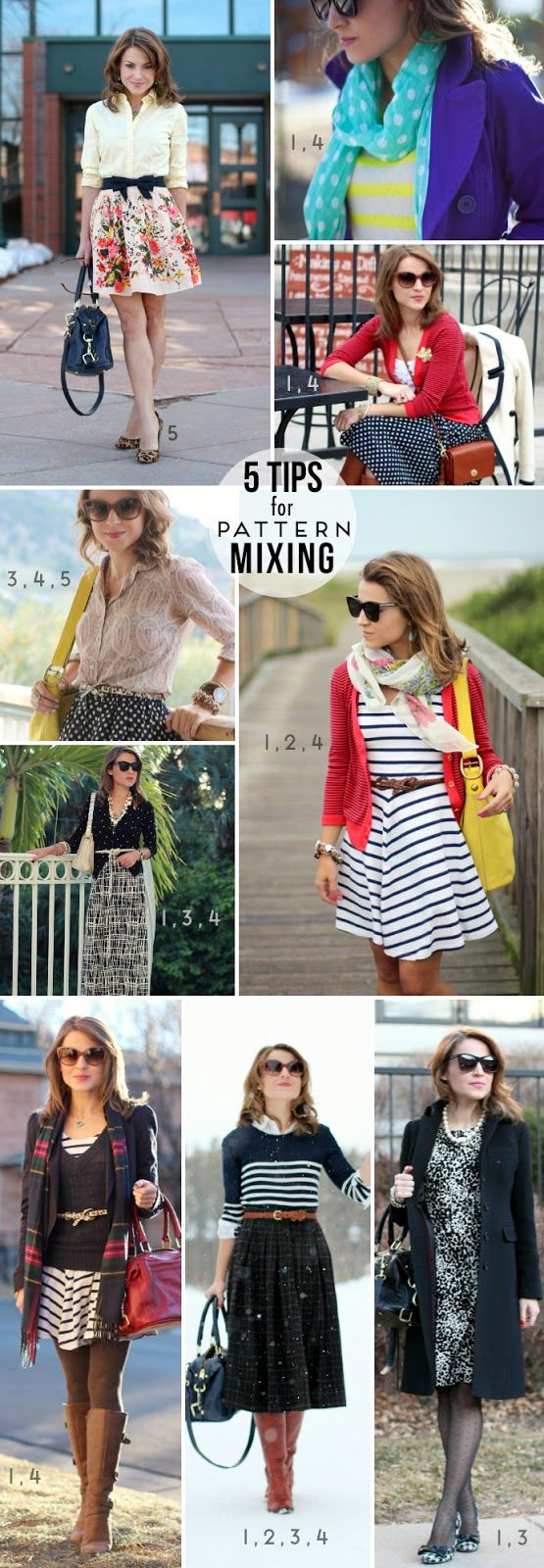 5 Tips for Painless Pattern-Mixing. Love 'em.