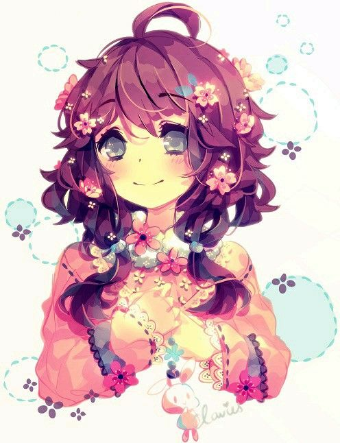 anime cute colorful girl - photo #33