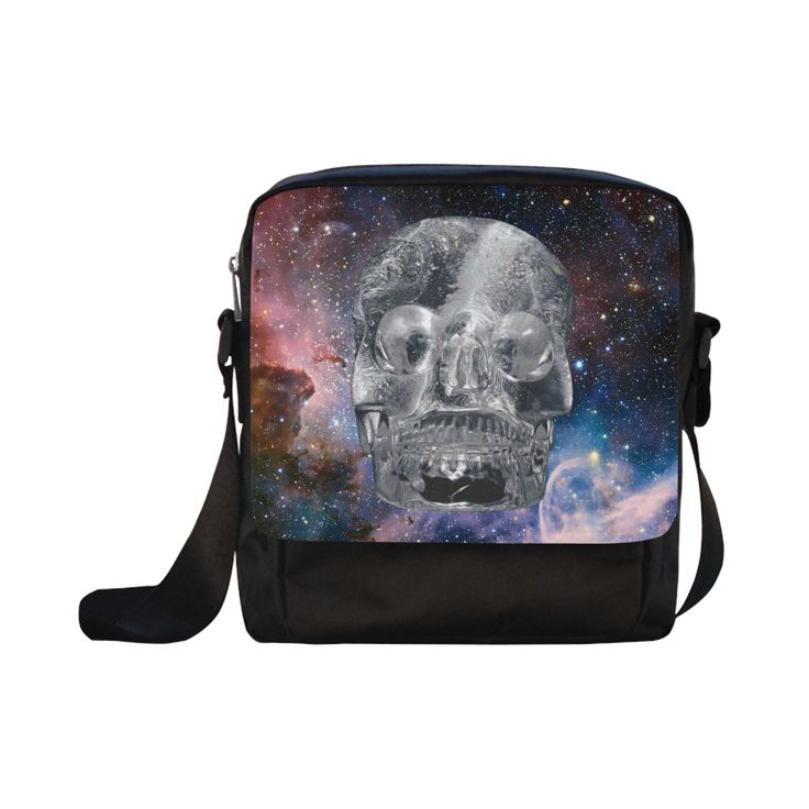 Crystall Skull Crossbody Nylon Bag. FREE Shipping. #artsadd #bags #skull
