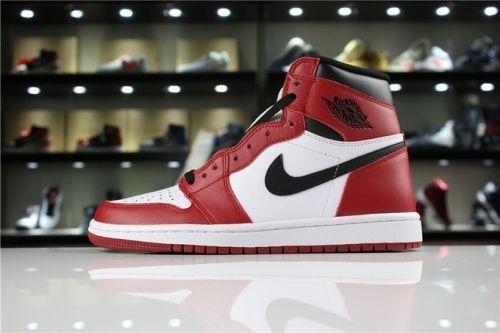 huge discount b3906 078bd Factory Authentic Air Jordan 1 Retro High OG Chicago White Black-Varsity Red