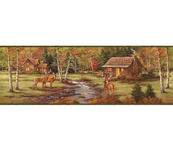 Interior Place - Deer Creek Lodge Wallpaper Border, $17.99 (http://www.interiorplace.com/deer-creek-lodge-wallpaper-border/)