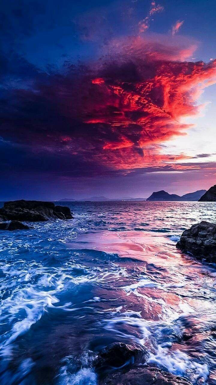 Sky Ocean Nature Beach Sunset Photography Sea Landscape Https Weheartit Com Entry 32677 Lindas Paisagens Fotografia De Paisagem Ideias De Paisagismo