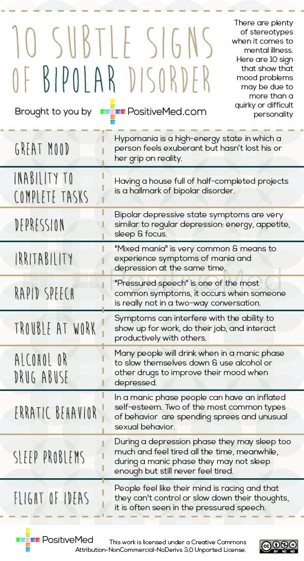 10 Subtle Signs of Bipolar DisorderPositiveMed | Positive Vibrations in Health