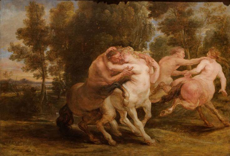 """Pierre Paul Rubens - """"Les amours des Centaures"""" (vers 1635) - Musée Calouste-Gulbenkian, Lisbonne, Portugal."""