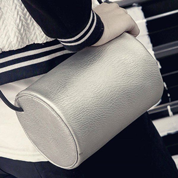 Cylinder Shaped Mini Crossbody Bag