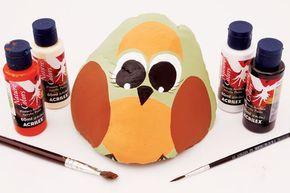 Pintura em pedra - Portal de Artesanato - O melhor site de artesanato com passo a passo gratuito