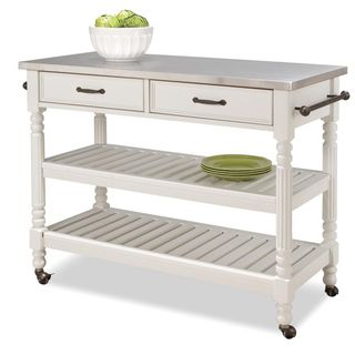 Savannah White Kitchen Cart