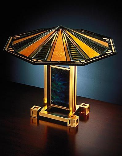 Art Deco Table lamp by Frank Lloyd Wright
