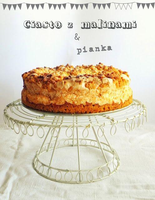 love affair on a plate: Ciasto z malinami i bezą