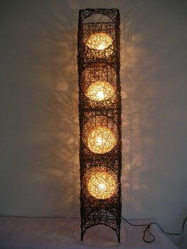 Free shipping Handmade rattan floor lamp lighting floor lamp bedroom floor lamp rustic floor lamp