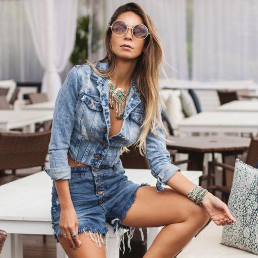JEANS COM JEANS: Pode? Como usar? Dicas imperdíveis! | Elegante | Pinterest | Shorts jeans, Jeans cintura alta e Short jeans cintura alta