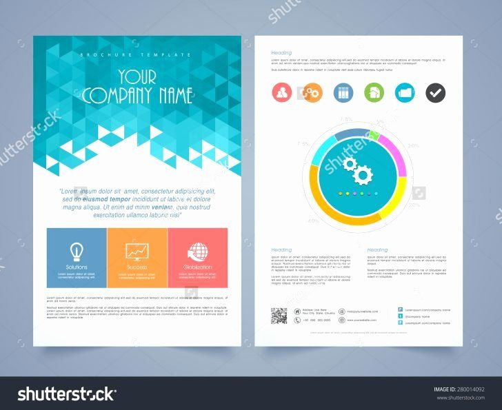 One Page Brochure Template Beautiful One Page Brochure Design Single Page Brochure Design Business Flyer Templates Flyer Template Brochure Design Template