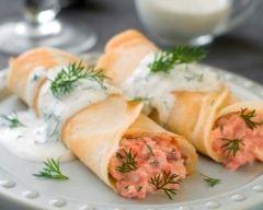 Crêpes salées au saumon (facile, rapide) - Une recette CuisineAZ