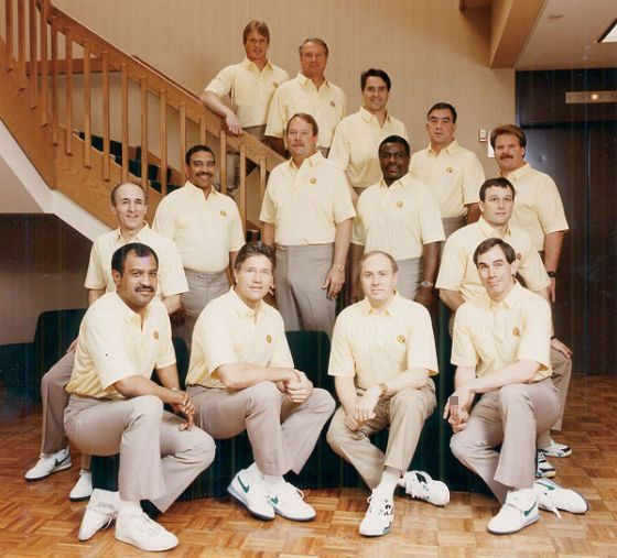 Mike Holmgren's first Packers coaching staff, in 1992, contained five future head coaches: Jon Gruden, Dick Jauron, Steve Mariucci, Andy Reid and Ray Rhodes.