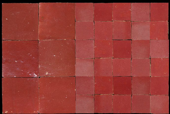 Red moroccan tiles - Zellige