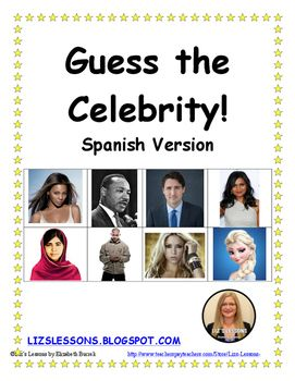 Guess the Celebrity! Spanish Version-Updated for 2016!