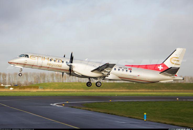 Etihad Regional (Darwin Airline) HB-IZP Saab 2000 aircraft picture