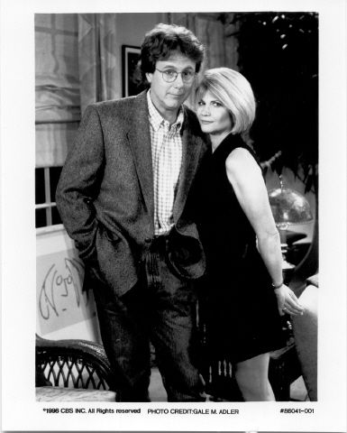 """This is a promo photo from the episode """"Falling"""" where Harry Anderson is reunited(again)with his Co-Star Markie Post from """"Night Court"""". Description from sitcomsonline.com. I searched for this on bing.com/images"""