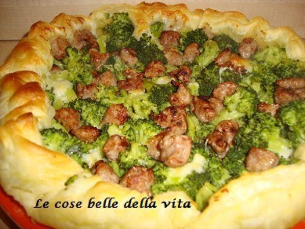Ricetta Torta salata con broccoletti e salsiccia