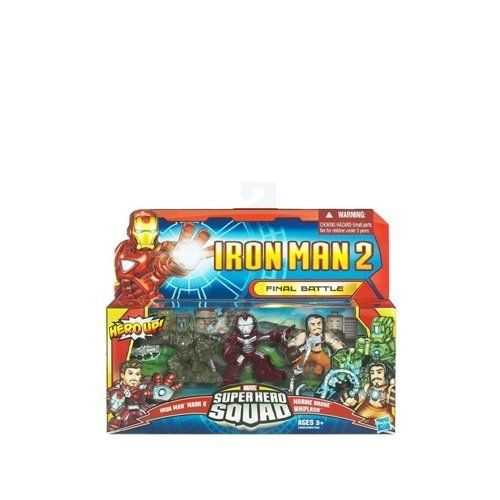 Iron Man 2 Super Hero Squad Mini Figure 3Pack Final Battle Iron Man Mark V Whiplash  Armor Drone *** You can find more details by visiting the image link.