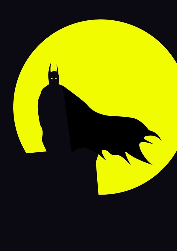 Minimalist Batman /// by Michael Turner /// via Behance