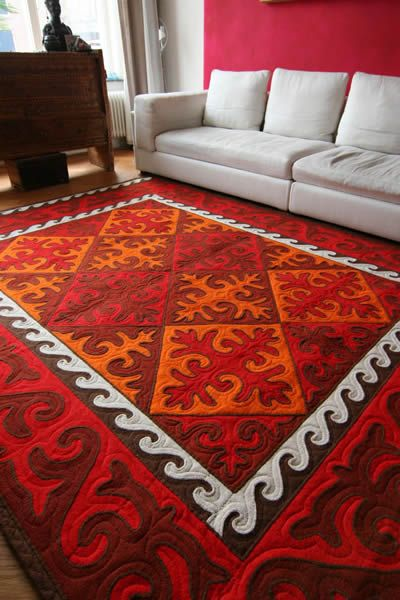 Shyrdak Felt Rugs. Shyrdak carpet from Kyrgizstan Buy Online