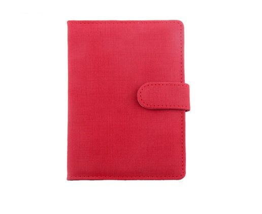 Red Colour PVC Passport Holder with Magner Closing