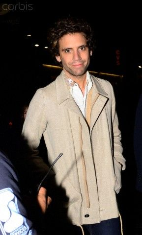 British singer-songwriter Mika (Michael Holbrook Penniman, Jr.), arrives the the Wiltern Theatre in Los Angeles for Sting's Concert Nov 29, 2011