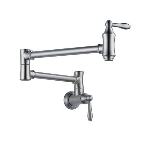 This may just be the nicest wall mounted sink faucet we have ever seen! TheDelta Faucet 1177LF-AR Traditional Traditional Pot Filler Faucet – Wall Mount has everything you want in a wall mounted kitchen sink faucet. First off, since it is wall mounted, you have much more room to store dishes, pots and pans giving …