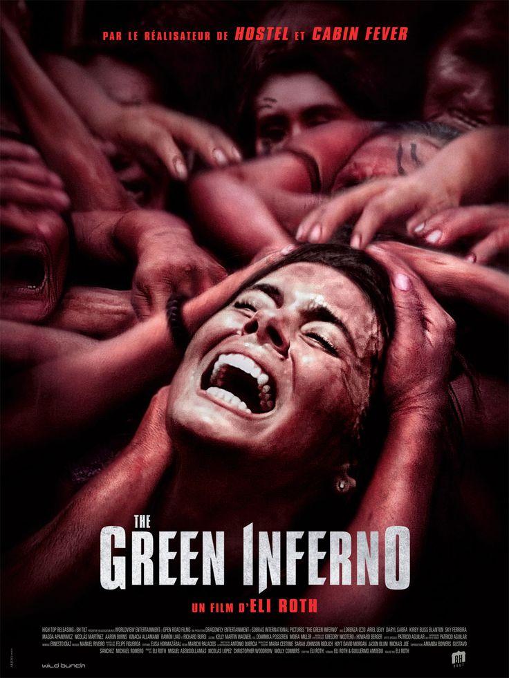 The Green Inferno est un film de Eli Roth avec Lorenza Izzo, Ariel Levy. Synopsis : Un groupe d'activistes new-yorkais se rend en Amazonie et tombe entre les mains d'une tribu particulièrement hostile.