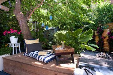 En hyggelig udendørs opholdsrum