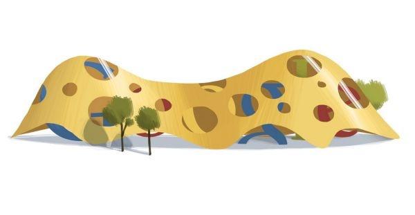 Google doodle 18.4.2012 - Logo českého Googlu připomíná 75. narozeniny, které by ve středu oslavil světoznámý architekt Jan Kaplický