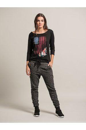 Mujer Camisetas - CAMISETA BANDERA EEUU