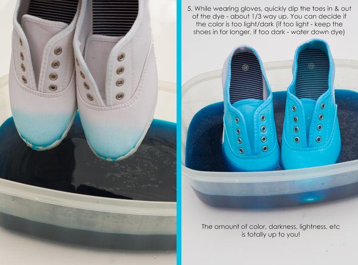 DIY Dip Dye Shoes #TLFSFavTHings